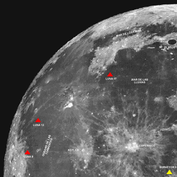 map of moon landings - photo #36